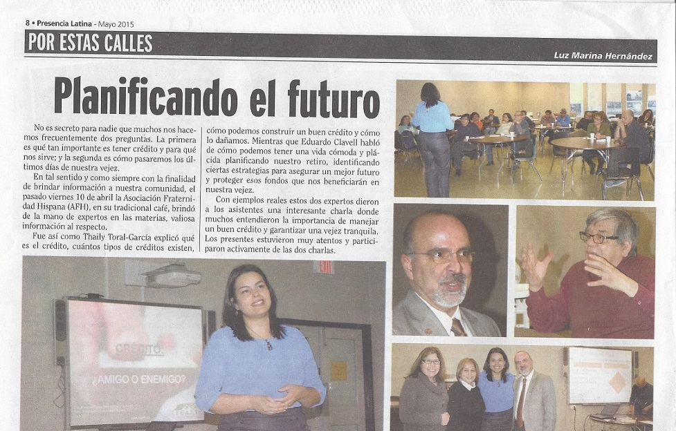 Article - Presencia Latina - Mayo 2015